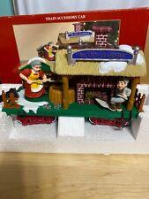384-3 Dillards New Bright Holiday Express Animated Train Bakery Car&track