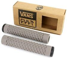 Cult X Vans Flangeless Grips w/ End Plugs Waffle Pattern BMX Bike / Scooter GRAY