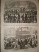 Prizes for 26th Middlesex Rifle Volunteers at Guildhall 1865 old print ref E