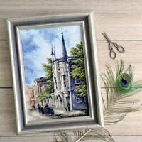 Counted Cross Stitch Kit Old City Landscape DIY Embroidery KIT Wall Art Decor