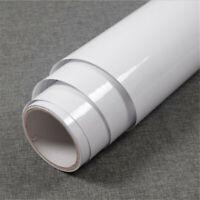 Vinyl White Self Adhesive Wallpaper Furniture Film Wall Stickers Kitchen 118inch