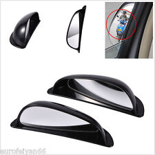 One Pair Automobile Outside Two Rows Left/Right Rearview Blind Spot Mirror Black