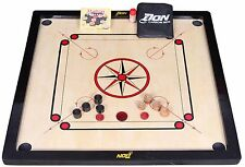 Carrom Board Game Coins Striker Rosewood Board in Carrom Board Set Size 33 x 33""