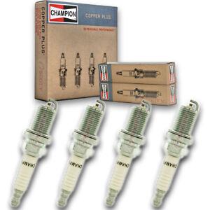 4 pc Champion Copper Plus Spark Plugs for 1989-2001 Nissan Sentra 1.6L 2.0L js
