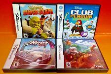 Up, Herbie, Shrek, Club Penguin - 4 Disney Games - Nintendo DS DS Lite 3DS 2DS