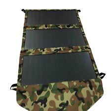 Hovall 21W Camouflage Foldable Solar Charger with Dual USB Port for Cell Phones