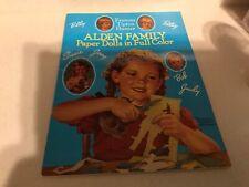 Alden Family Paper Dolls Book Francis Tipton Hunter 1940's  Fashion 1989 New