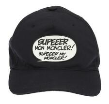 NEW MONCLER NAVY BLUE COTTON FUNKY SIGN LOGO BASEBALL CAP HAT ONE SIZE