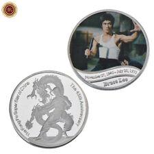 WR El 45º aniversario de la moneda de plata del color de Bruce Lee