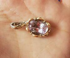 Tacori Oval Amethyst 18k Rose Gold Pendant Sterling Silver Blushing Purple Pink
