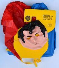 SUPERMAN Super Hero COSTUME w Original Card  Child Size 8-10 Ben Cooper MOC