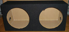 "12 ""double / TWIN SIGILLATO SUBWOOFER AUTO Enclosure SUB BASS BOX VUOTO MDF Nero"