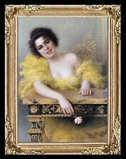 1800's Lady Miniature Dollhouse Doll House Picture