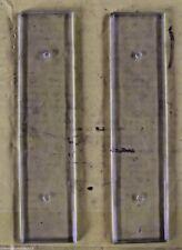 Ancienne paire de plaque de propreté verre biseauté rétro vintage