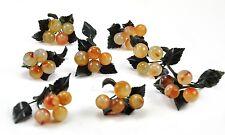 8 x Vintage Agate Natural Stone Clump of Cherry Handmade Fruit arrangement Decor