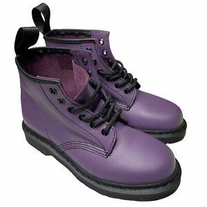 Dr. Martens 101 Purple 6-Eye Combat Boots UK 5 US Men 6 US Women 7 Leather New