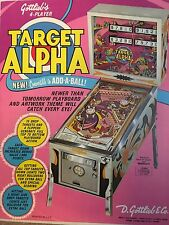 """TARGET ALPHA"" 1976  PINBALL PROMO  BROCHURE-""MINT"" IN PLASTIC COVER"