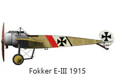 "Model Airplane Plans (RC): Fokker Eindekker 1/8 Scale 47½""ws for .15-.19 Engine"