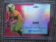 WALKER LITTLE Stanford 2017 Leaf Army All-American RED Flag Metal Auto #1/3