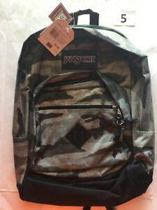 Jansport Backpack Book Bag 1900 Cu In Large Various Colors Camouflage New Tags
