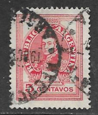ARGENTINE POSTAL ISSUE - FAMOUS ARGENTINES USED 5c DEFINITIVE 1948 - SAN MARTIN