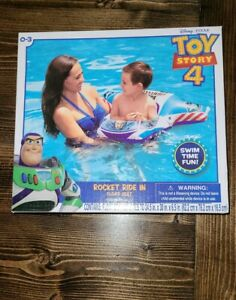 Disney Pixar Toy Story 4 Rocket Ride In Float Seat Inflatable Pool Toy Swim New