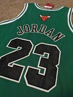 Michael Jordan Chicago Bulls Size XL St. Patricks Day Green Jersey New Wtags