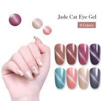 LILYCUTE 8ml Jade Cat Eye Magnetic Nail Art Gel Polish Soak Off UV Gel Varnish