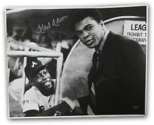 Muhammad Ali Hank Aaron Signed Autographed 16X20 Photo Braves Vintage Steiner B