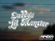 Daddy's lil Monster - Harley Quinn  - Batman Joker Suicide Squad - Vinyl Decal