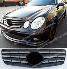Mercedes E LCI w211,2006+ Grille,Gloss Black,AMG E63 look:Central Star.E350;E320