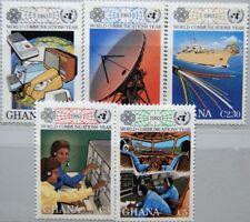 GHANA 1983 983-87 835-39 World Communication Year Kommunikation Antenna MNH