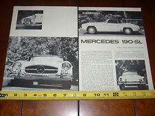 1961 MERCEDES 190SL - ORIGINAL VINTAGE ARTICLE