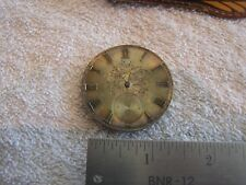 Antique Pocket Watch Movement with Ornate Dial Key Wind