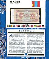 E Banknotes of All Nations Mongolia 1966 10 Tukrik P-38a AUNC