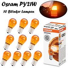 10x Osram PY21W 12V 7507 Original Orange Blinker Ersatz Halogen Kugel Birnen