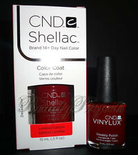 2pc CND Shellac Gel & Vinylux Decadence #111 Duo Nail Polish LARGE SIZE .5oz NEW