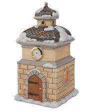 Goebel Engel verschneiter Kirchturm mit echter Uhr 30 cm LED Beleuchtung