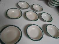 Vintage 1950's Syracuse China Hotel Restaurant Ware Wintergreen 8pc Dessert Bowl