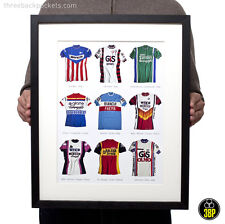 Iconic Vintage Cycling Jersey Print Poster (Brooklyn, Bianchi, Sanson, Raleigh)