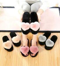 Women Cotton  Slippers Warm Heart  Winter Indoor Thermal Home Flip flops Flat