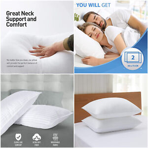 Extra Filled Firm Pillows Head Back & Neck Orthopedic Support Pillow Pair