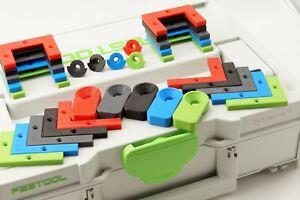 Halter mit Verrieglung für Systainer T-Loc Festool und Tanos Grün Blau Rot