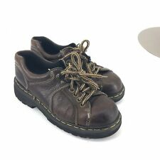Vintage Docs Dr Martens Shoes 6Uk 8Us Brown Leather 80's 90's Grunge Retro