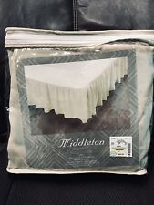 Full/Queen Bed Skirt by Middleton-Beige/Khaki - 15�Drop - New In Original 60 x80