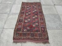 Antique Worn Hand Made Traditional Afghan Wool Red Brown Small Rug 427x320cm