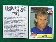 USA 94 n 18 JOHN DOYLE USA , Figurina Sticker Panini (NEW)