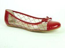 Nine West Women's Lellman Ballet Flats Clear/Red Size 6 M