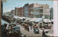 Chicago, IL 1908 Postcard: Busiest Street in the World, South Water - Illinois