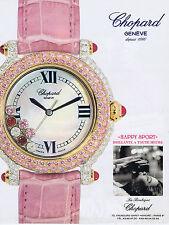 PUBLICITE ADVERTISING 084 1995 CHOPARD montre Happy sport